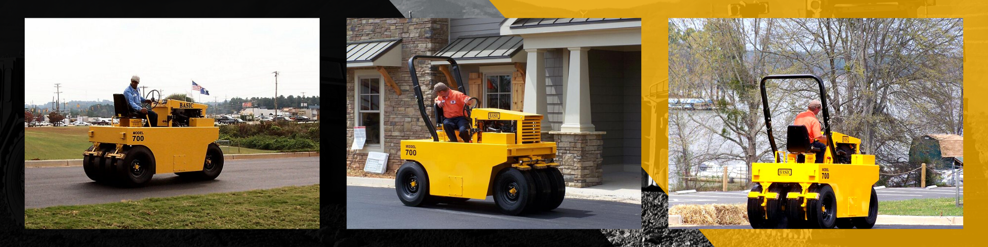 Model 700 Pneumatic Asphalt Roller photos